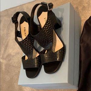 Prada Black Sandals